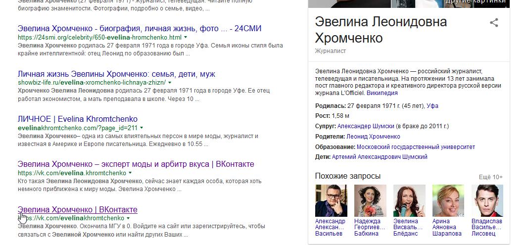 Результаты поиска по картинкам в гугле